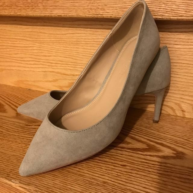 Size 7 - ASOS Grey suede wide fit heels