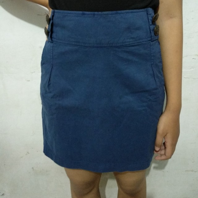 Skirt Navy Colorbox *freeongkir