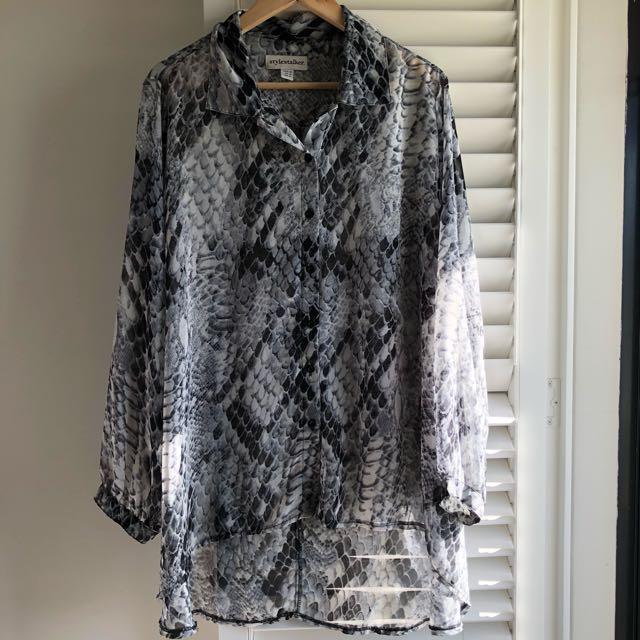 Stylestalker venom oversized blouse / top sz12