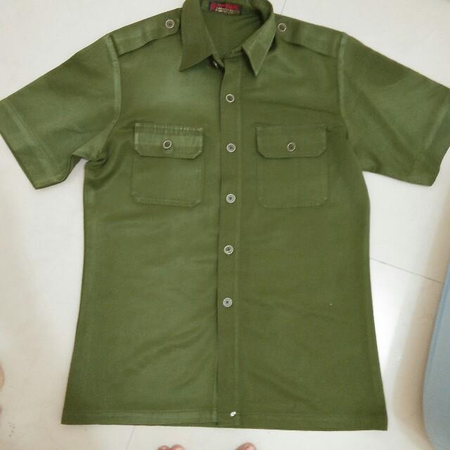 #tis gratis atasan hijau army