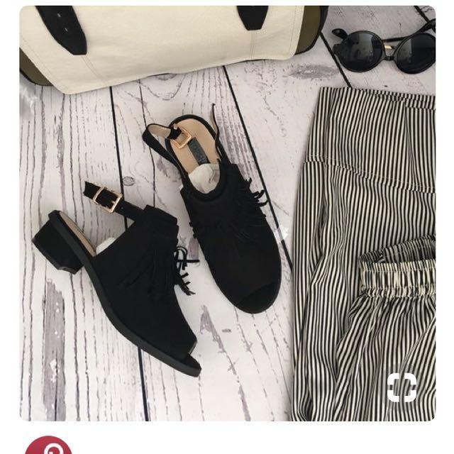 Topshop Suede mule sandals