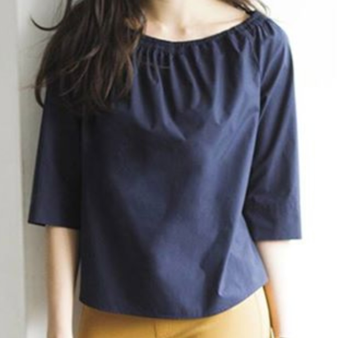 7aa0d1eefde UNIQLO WOMEN Extra Fine Cotton 3/4 Sleeve Off Shoulder Blouse, Women's  Fashion, Clothes, Tops on Carousell