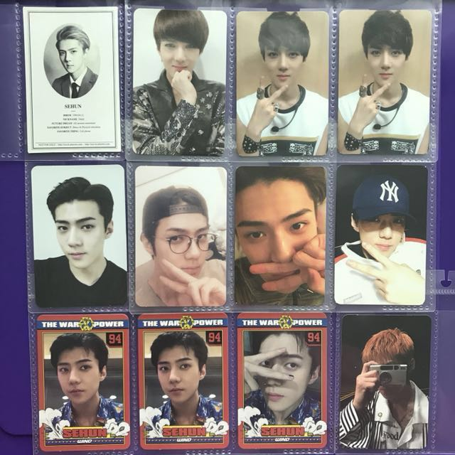 Updated EXO Sehun Photocards Albums