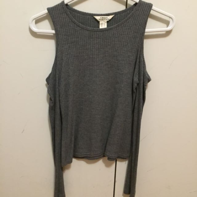 Urban planet open shoulder grey shirt