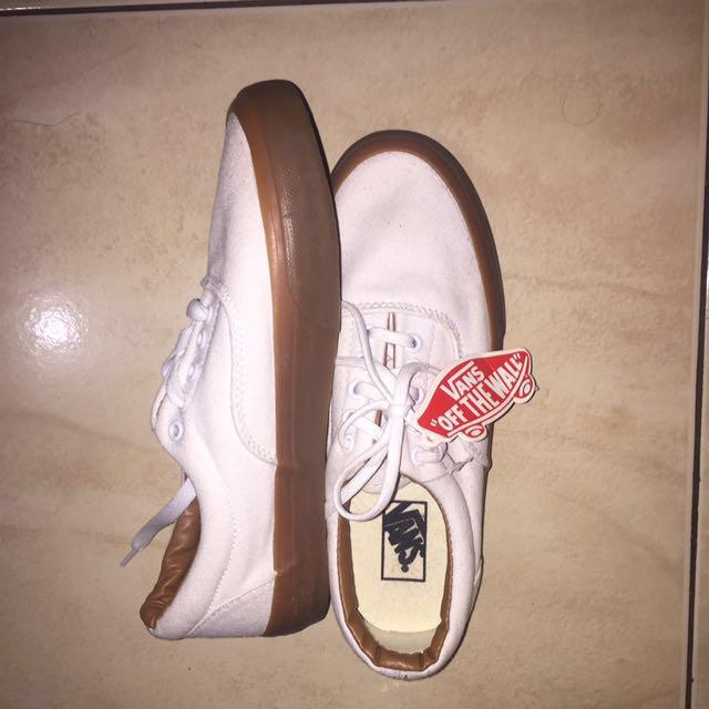 Vans white gumsole