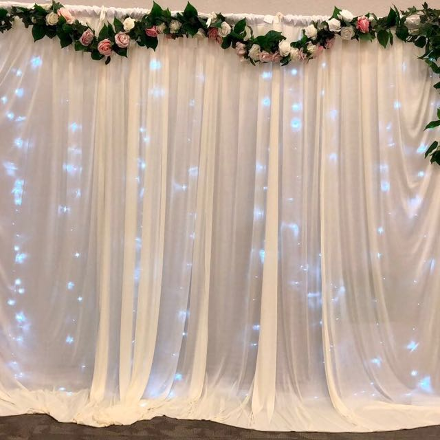 Wedding backdrop / photo booth