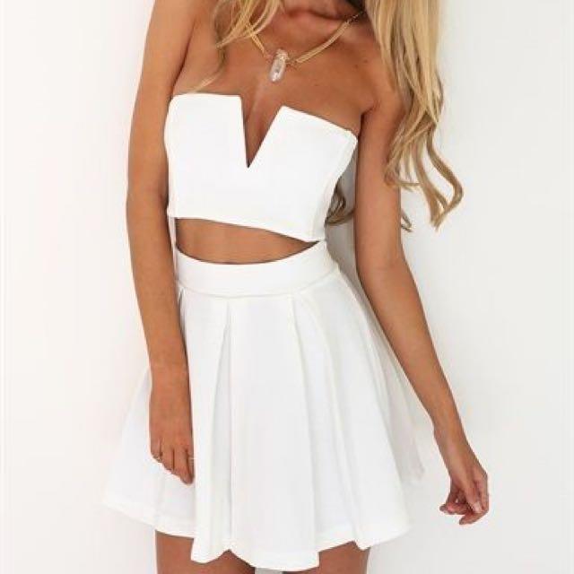 White Sabo Skirt Set