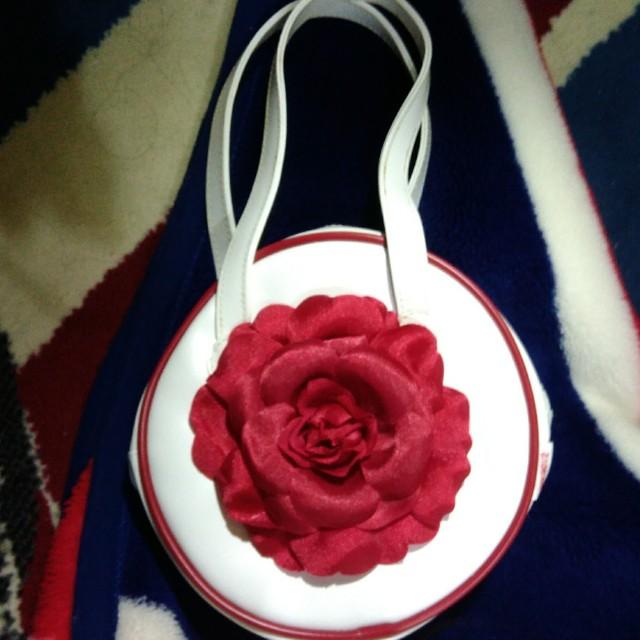 WHY AND 1/2紅玫瑰手提袋