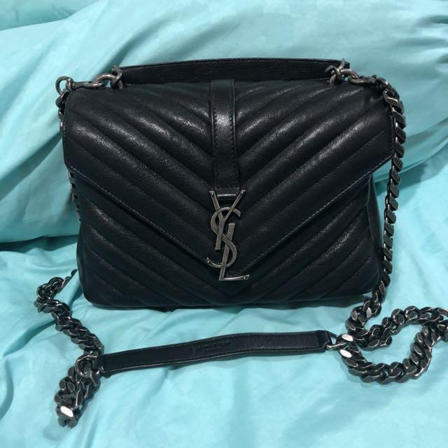 3ef2c7e3fd2f YSL Yves Saint Laurent College Bag (Medium - the smaller size ...