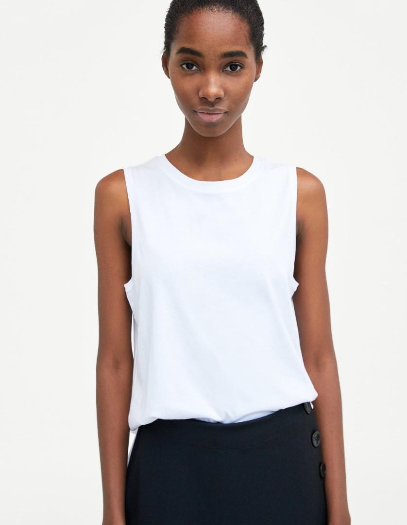 55cc26c944401 Zara Basic Sleeveless T-shirt