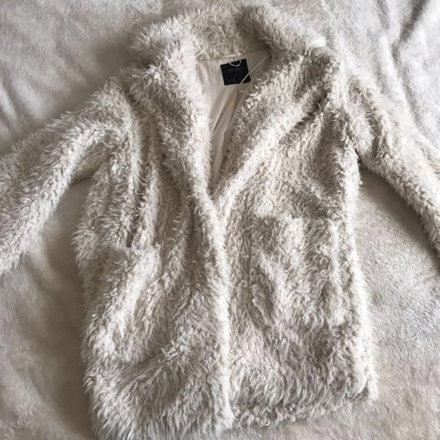 Zara Shaggy Faux-Fur/Teddy Coat