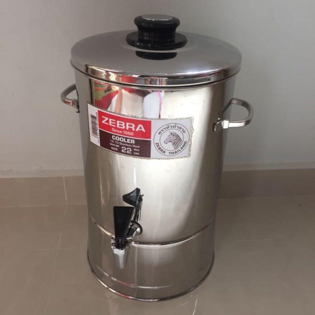 Zebra Stainless Steel Water Dispenser 22 Cm Brand New