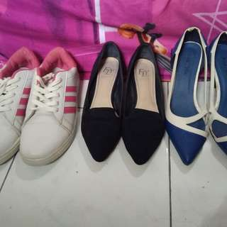 Take it All 3pc (1sneaker, 2 heels)
