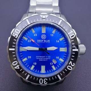 全新美國DeepBlue 氣燈錶潛水錶