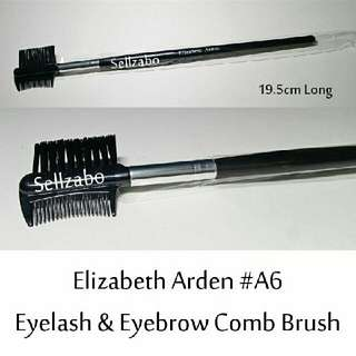 Brush : 19.5cm : Elizabeth Arden : Brushes : Comb : Eyes : Lash : Lashes : Eyelash : Eyeslash : Eyelashes : Eyeslashes : Brows : Eyebrows : Eyesbrow : Eyesbrows : Black : Applicators : Mascara : Face : Facial : Makeup : Cosmetics : Beauty : Tools : A6