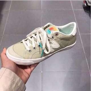 New balance 開口笑帆布 奶茶色23.5 全新!含鞋盒