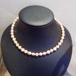 特價 天然淡水珍珠項鍊 頸鏈