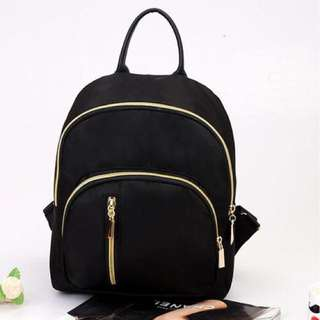 Water Repellent Backpack Black Anti Theft with Back Pocket School Bag Korean Backpack