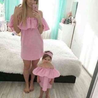 Mother and Daughter Dress with Headband