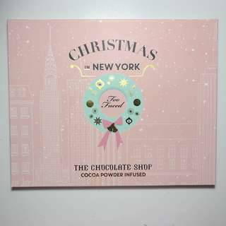 BN Too Faced Christmas in New York  Eyeshadow Palette The Chocolate Shop Holiday Cocoa Powder Infused (Authentic)