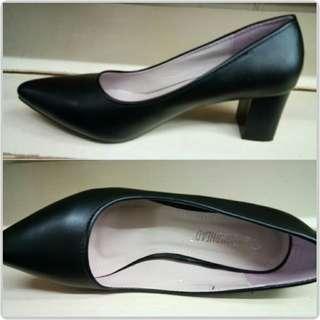 Black Leather Marikina Shoes