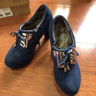 全新,寶藍短靴