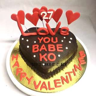 HEART CAKE SIZE 6.5x6x2.5 inches