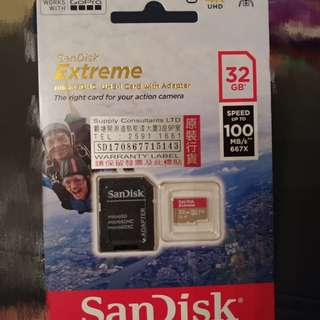 Samdisk Extreme 32GB Micro SD Card 記憶卡