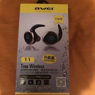 Awei藍芽耳機