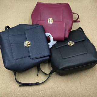 美國專櫃 Tory Burch Chelsea Imperial Garnet Leather Backpack
