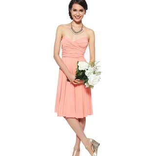 infinity Convertible dress in blushing coral