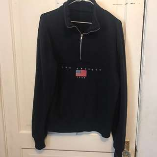 brandy melville half zip sweater