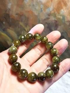 12mm Green (Grossular) Garnet bracelet [Natural crystal]