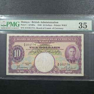 Malaya / British Administration $10