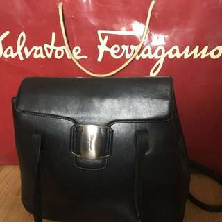 Authentic Leather Ferragamo with paper bag