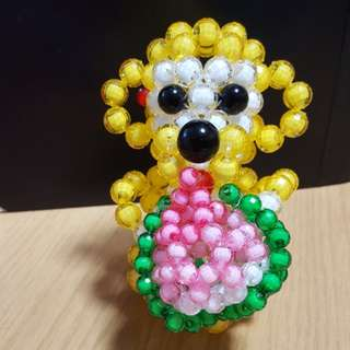 Handmade beaded Monkey with Longevity Bun : Happy Birthday!