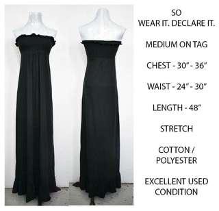 Long Black Tube Dress
