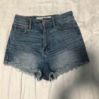 Abercrombie/ A&F high waisted denim shorts