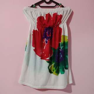 Floral mini halter dress for beach