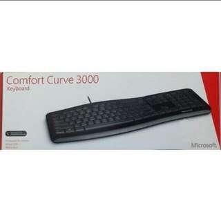 Brand New Microsoft Comfort Curve 3000 Keyboard