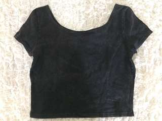 Black HnM crop top