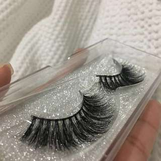 3D mink lashes natural falsies wispy lashes false lashes