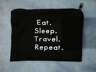 Eat. Sleep. Travel. Repeat pouch