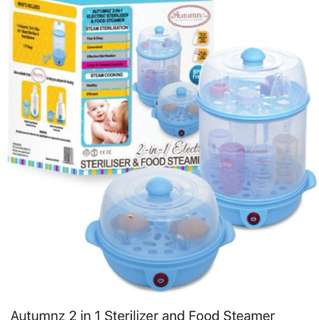 📣Autumnz- 2-in-1 Electric Steriliser & Food Steamer