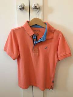Nautica Peach Polo Shirt