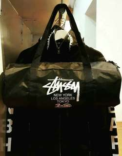 (100% ORIGINAL) Stussy 30th Anniversary Tour Japan Duffle Bag Magazine Appendix