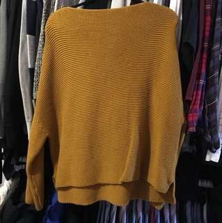 Zara mustard knitted crop sweater