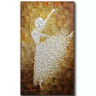 Ballerina Ballet Dancer Handpainted Canvas Oil Painting