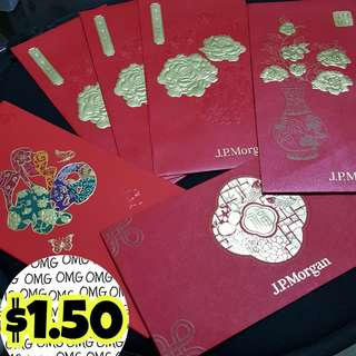 📮Free NORMAL postage ❤PreLoved Assorted J.P.Morgan Red Packets / Ang Baos