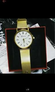 Geneva Mesh belt watch w/box